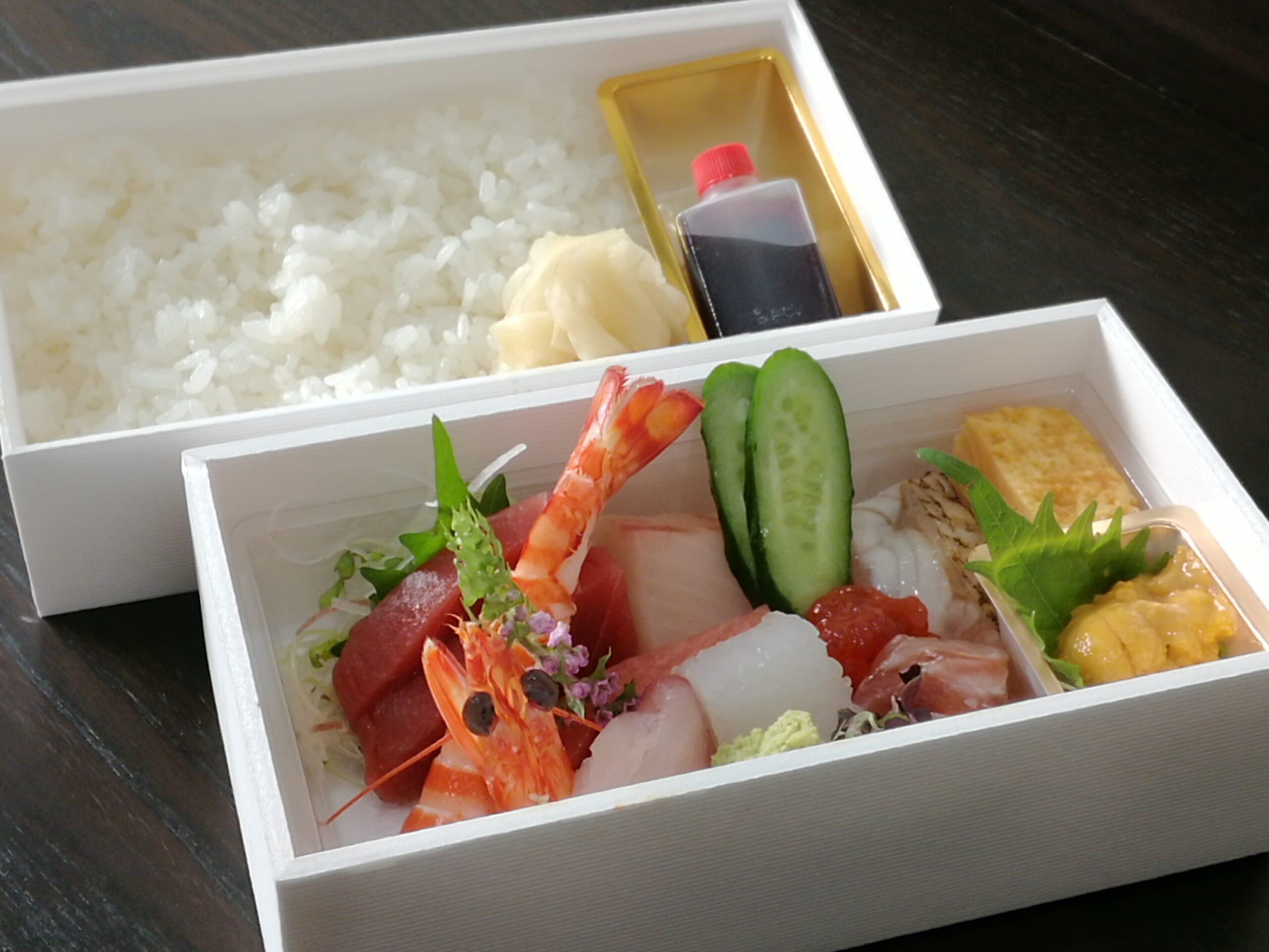 【海鮮丼】5,400円<p>新鮮な海の幸とご飯を 別盛でご用意いたします。 ご飯は白ご飯または酢飯をお選びいただけます。</p>