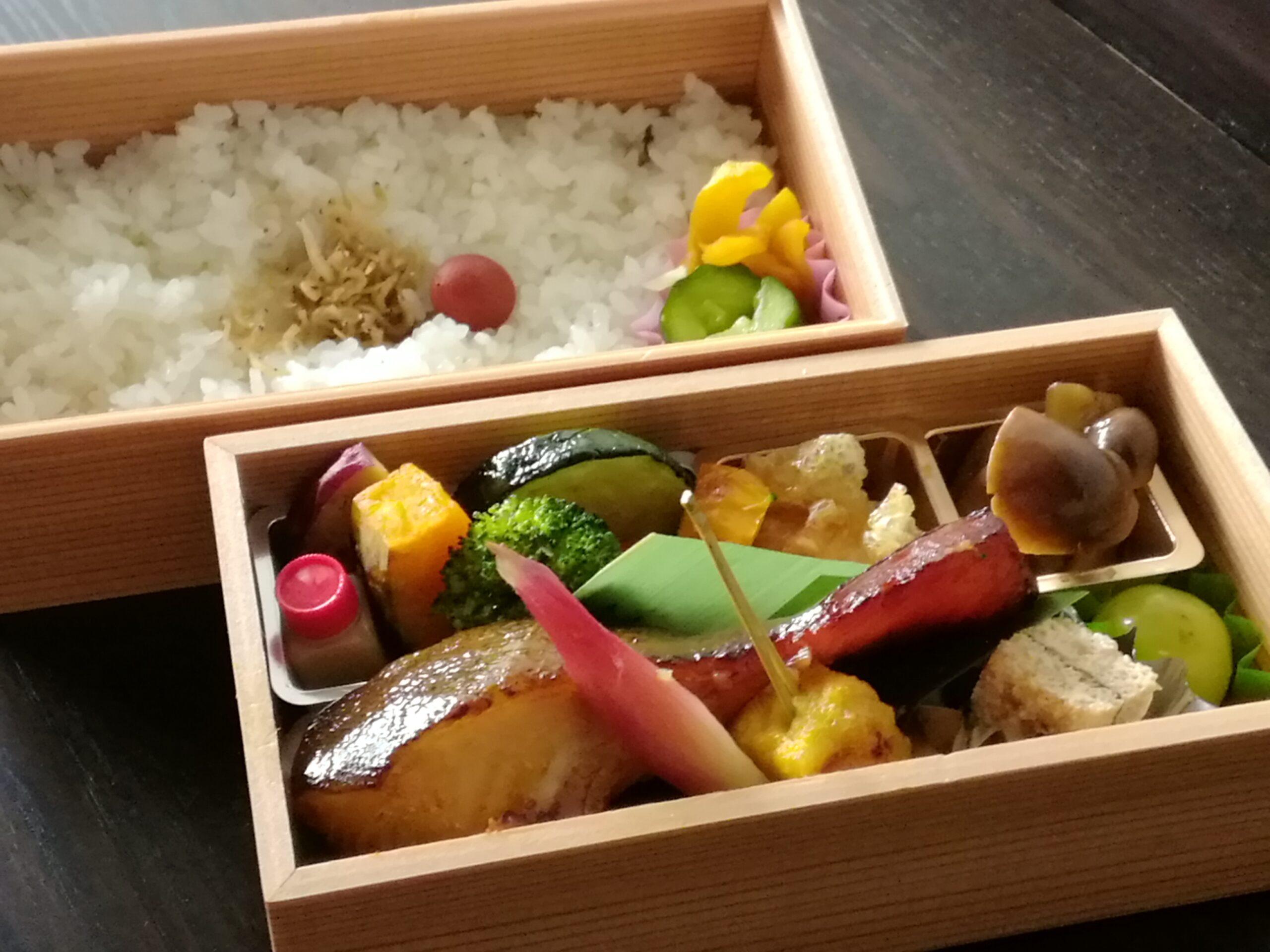 【銀だら西京焼弁当】2,700円/炊込ご飯3,240円<p>銀だら西京焼と 旬の品々を詰めた御弁当です。</p>